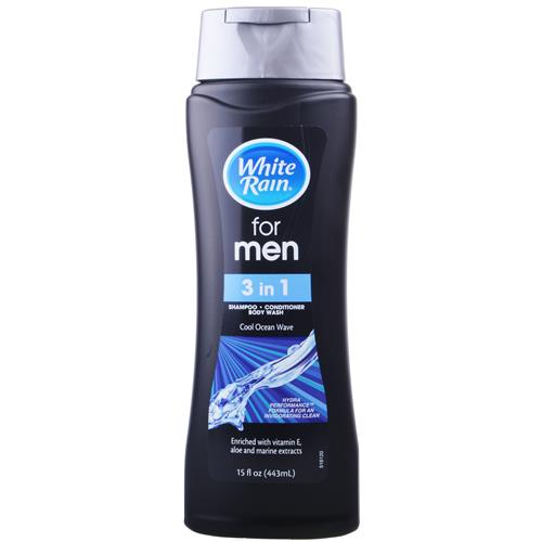 Wholesale White Rain Men's 3-IN-1 Shampoo, Conditioner and B