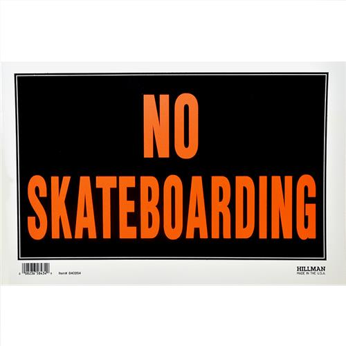 "Wholesale 8""x12"" NO SKATEBOARDING SIGN"