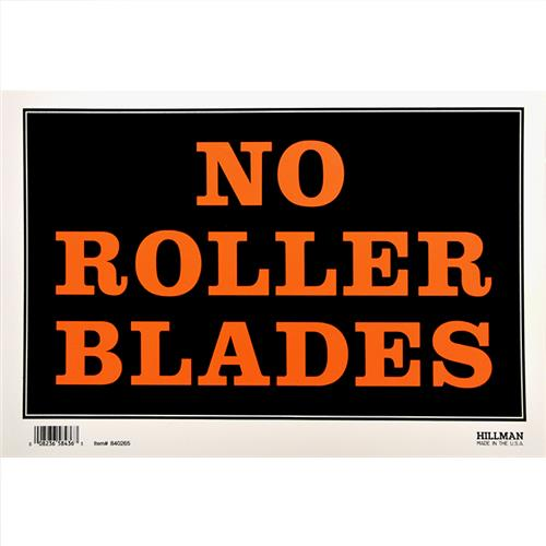 "Wholesale 8""x12"" NO ROLLER BLADING SIGN"