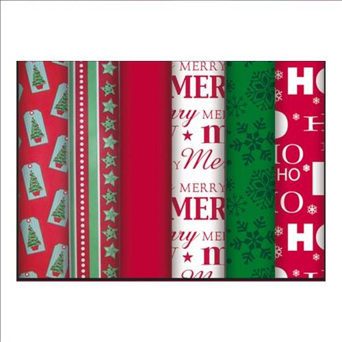 "Wholesale 40 SQFT Traditional Christmas Roll Wrap 16'x30"""" 6"