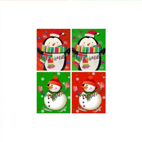 Wholesale Matte Christmas Bag 4 Assorted 513 Series- Bottle
