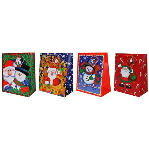 Wholesale Premium Kids Christmas Bag 4 Assorted In a PDQ- Ju