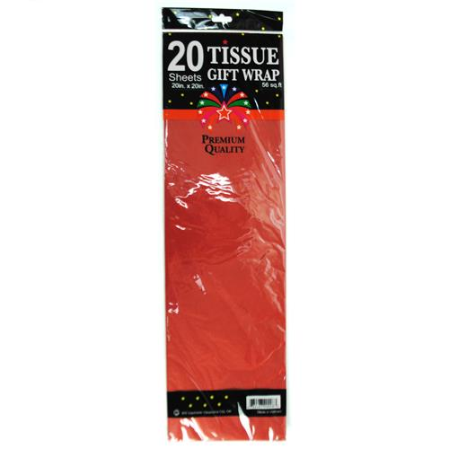 """Wholesale Red Tissue Paper 20"""""""""""""""" x 20"""""""""""""""" 20 Sheets"""