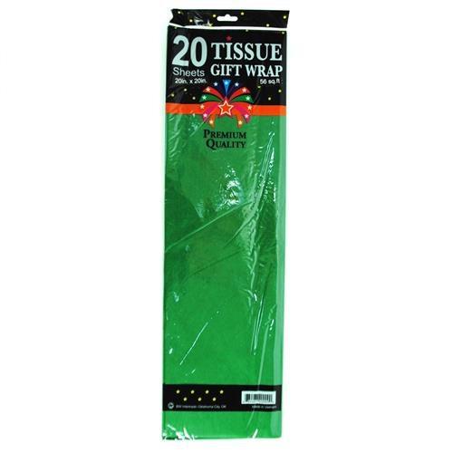 "Wholesale Green Tissue Paper 20"""""""" x 20"""""""" 20 Sheets"