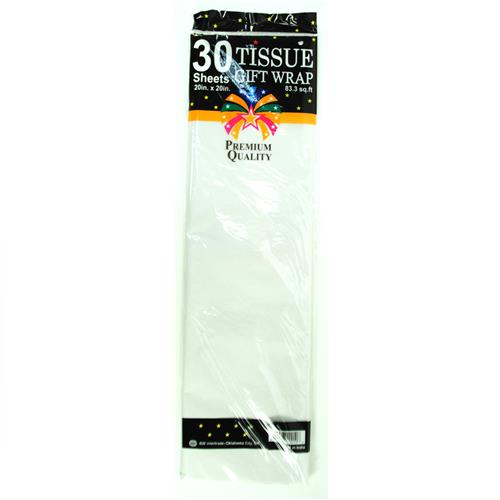 "Wholesale White Tissue Paper 20"" x 20"" 30 Sheets"