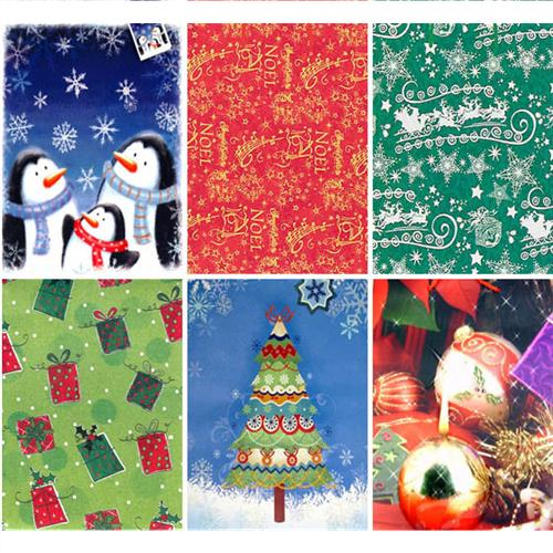 Wholesale Christmas Print Gift Box In PDQ- Small