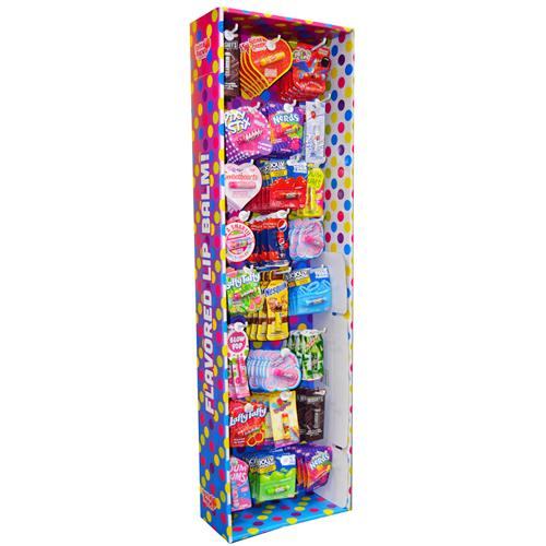 Wholesale Lip Balm Assorted Popular Flavors Floor Display