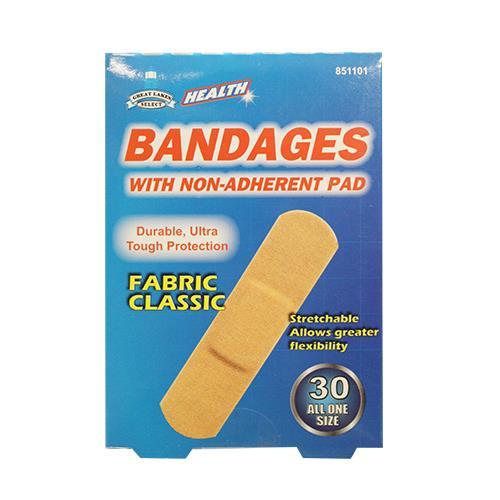 """Wholesale 30pc 3/4x3"""" FLEX FABRIC BANDAGE"""