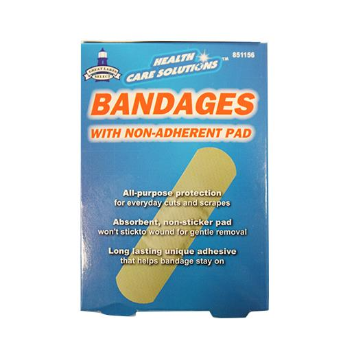 "Wholesale 50pk 3/4"" x 3"" Sheer Bandages"