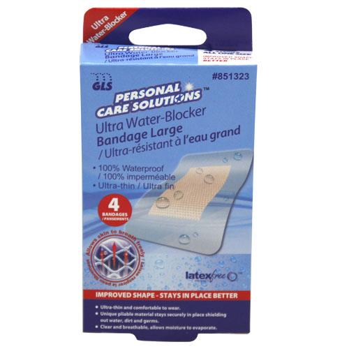 "Wholesale 4pk 3""x2"" CLR WTRPRF BANDAGES"