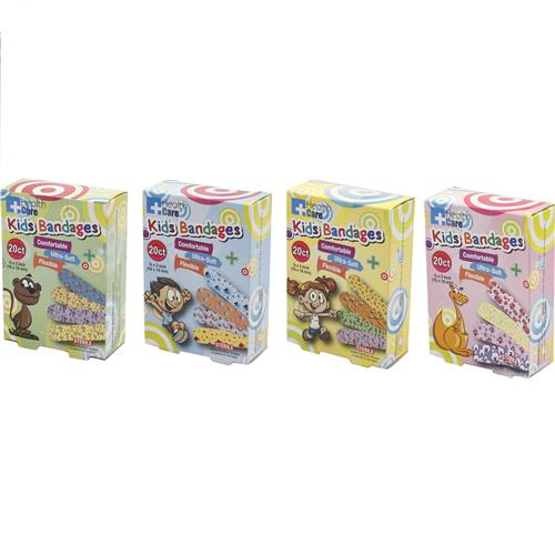 Wholesale 20pk COLORFUL KIDS BANDAGES