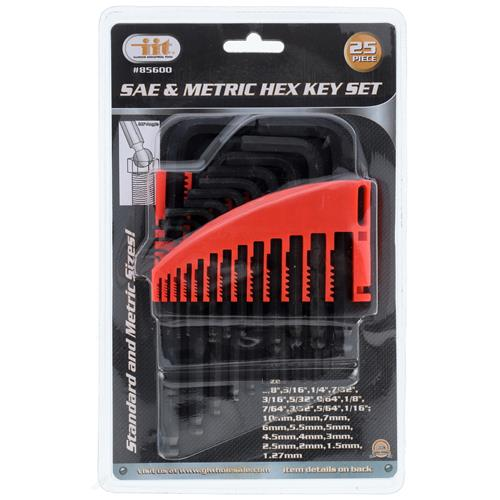 Wholesale 25pc Ball End Hex Key Driver Set SAE/MM