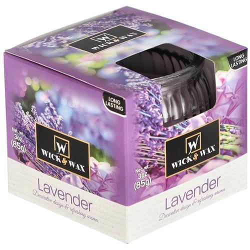 Wholesale 3 oz Boxed Globe Glass Candle - Rasberry