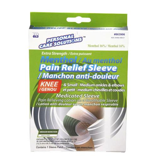 Wholesale MENTHOL PAIN RELIEF SLEEVE - M