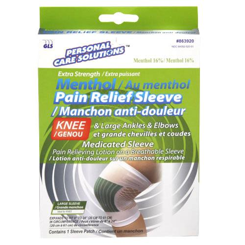 Wholesale MENTHOL PAIN RELIEF SLEEVE - L