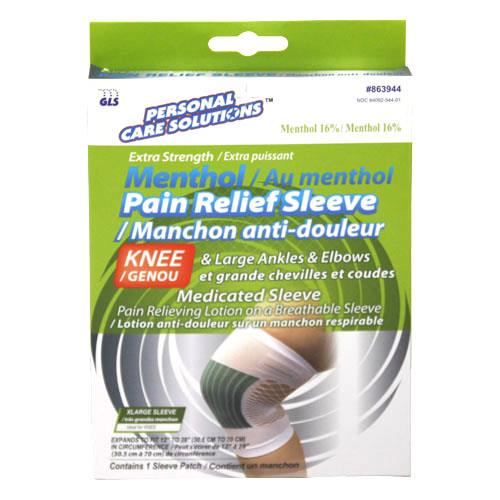 Wholesale MENTHOL PAIN RELIEF SLEEVE- XL