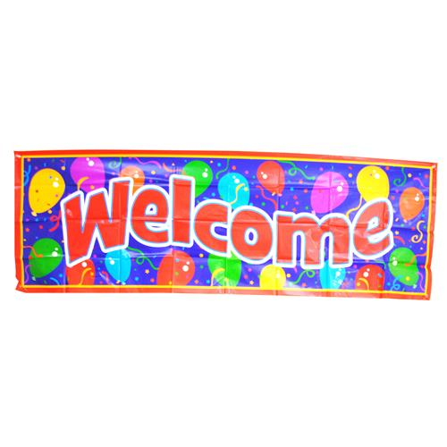 "Wholesale Giant Size Banner - """"""""WELCOME"""""""" 62-1/4"""""""" x 21"""""""""