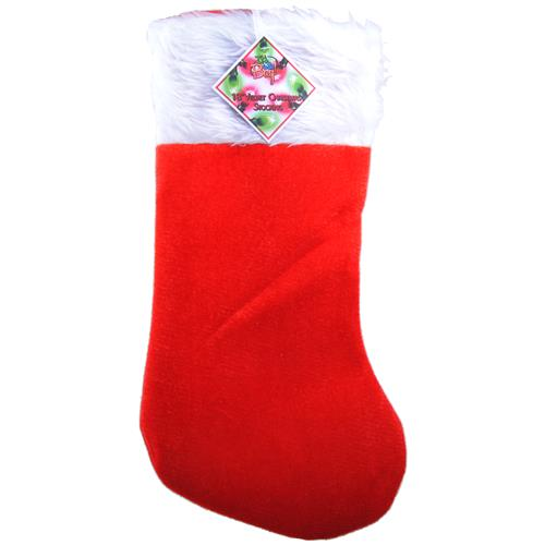"Wholesale Red Velvet 18"""" Christmas Stocking With Fur"