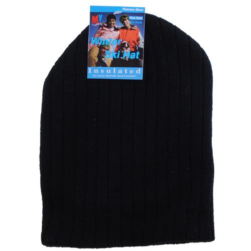 Wholesale Ski Hat Ribbed Assorted Solid Colors