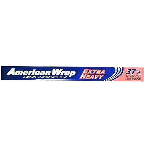 "Wholesale American Wrap Xtra Heavy Aluminum Foil 18"""" x 37.5"
