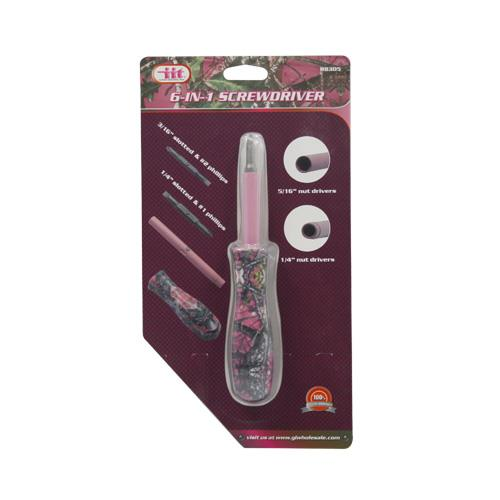 Wholesale LADY'S CAMO 6-IN-1 SCREWDRIVER