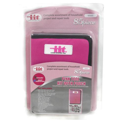 Wholesale 85pc PINK TOOL KIT w/ POUCH
