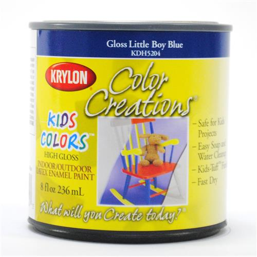 Wholesale Krylon Color Creations Kids Latex Enamel Gloss Paint 1/2 Pint- Little Boy Blue