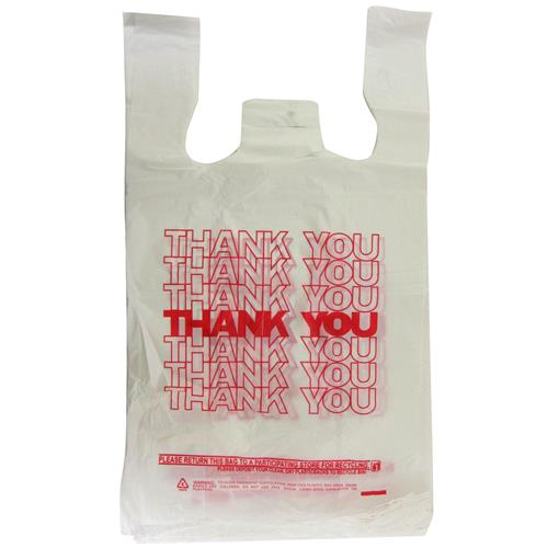 Wholesale 1/6 Thank You T-Shirt Bag 14 Mic Thick 11.5x6.5x22.5""