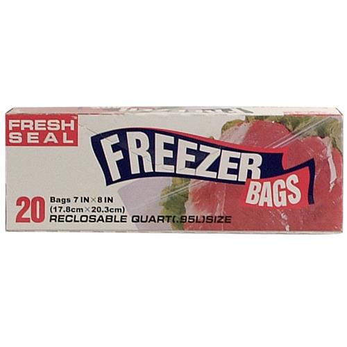 "Wholesale Fresh Seal Quart Freezer Bag """"""""Ziploc"""""""""