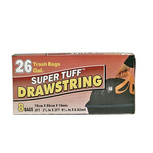 Wholesale Super Tuff Drawstring Trash Bag 26 Gallon