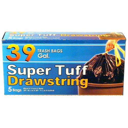 Wholesale Super Tuff Drawstring Trash Bag 39 Gallon