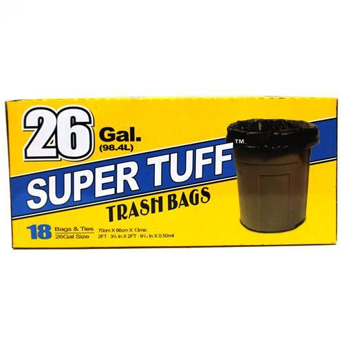 Wholesale Super Tuff Trash Bags 26 Gallon