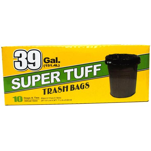Wholesale Super Tuff Trash Bags 39 Gallon Twist Tie