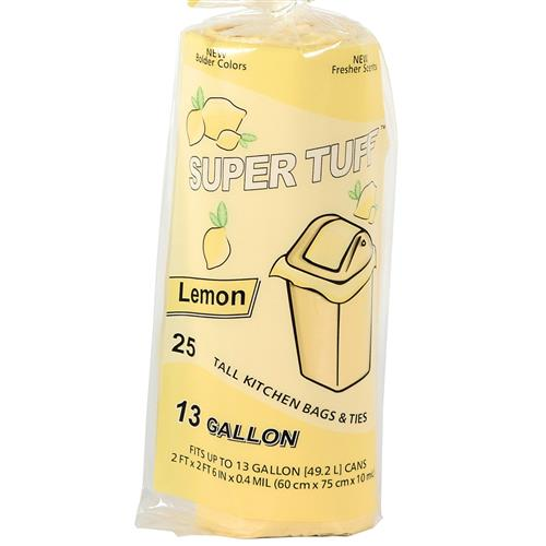 Wholesale Super Tuff Lemon Tall Kitchen Bag 13 Gallon
