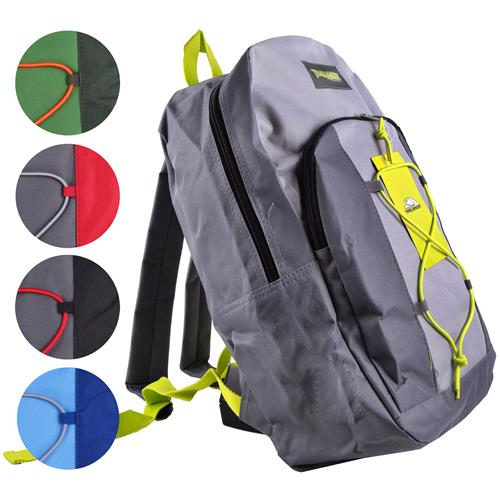 "Wholesale Backpack 17""""x12""""x5.5"""" 2 Tone with Bungee Cord 5"