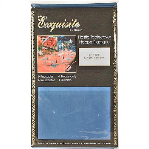 "Wholesale Dark Blue Plastic Tablecover 54"" x 108"""
