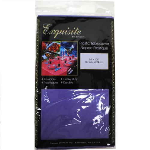 "Wholesale Plastic Tablecover 54"" x 108"" - Purple"