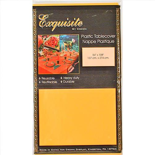 "Wholesale Yellow Plastic Tablecover 54"" x 108"""