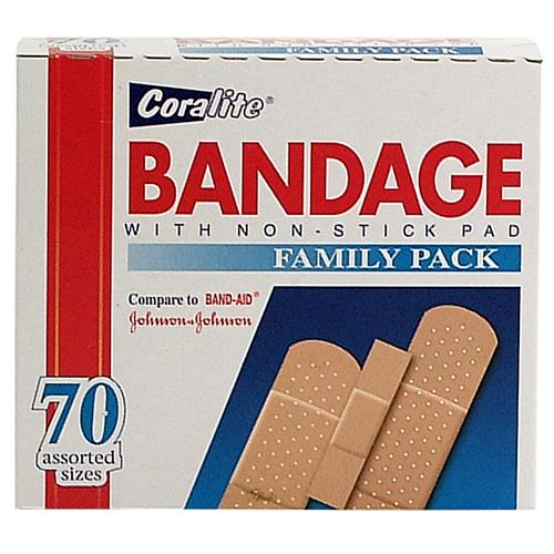 Wholesale Coralite Assorted Bandage Strips 70's