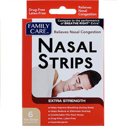 Wholesale Family Care Nasal Strips 6ct Tan NBE Breathe Right