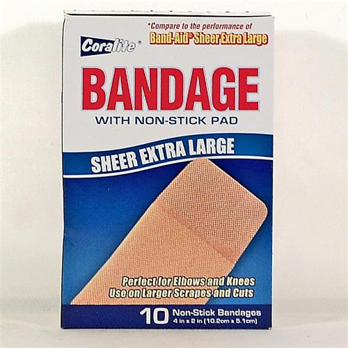 "Wholesale Coralite Sheer Bandage Extra Large 4""x2"""
