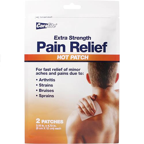 Wholesale 2 PACK PAIN RELIEF HOT PATCH
