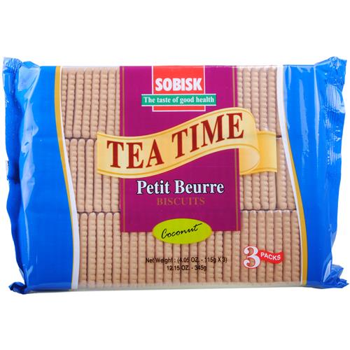 Wholesale Sobisk Tea Biscuit Coconut 3 Pack