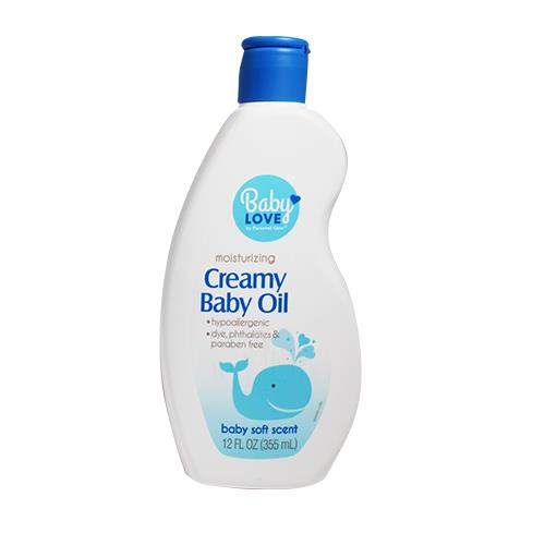 Wholesale BABY ITEMS - BABY LOVE CREAMY BABY OIL 12OZ