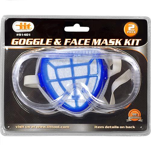 Wholesale 2PC Goggle & Face Mask Kit