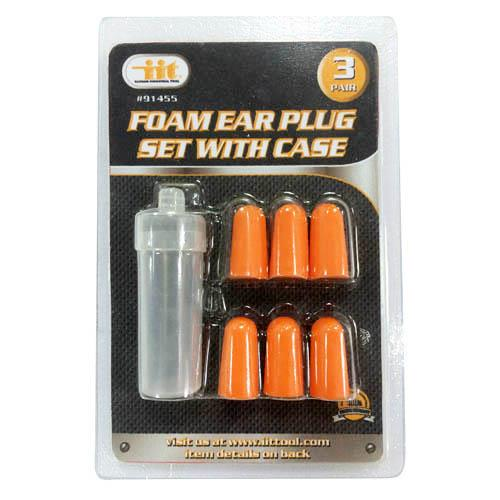 Wholesale 3 Pair Foam Ear Plug Set with Case