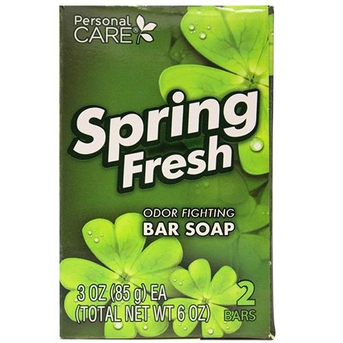 Wholesale PERSONAL CARESPRING SCENT SOAP 2PK OF 3OZ BARS