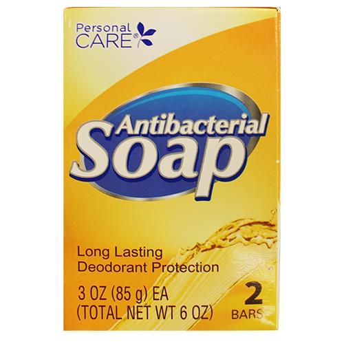 Wholesale PERSONAL CARE ANTI-BAC BAR SOAP 2PK OF 3OZ BARS