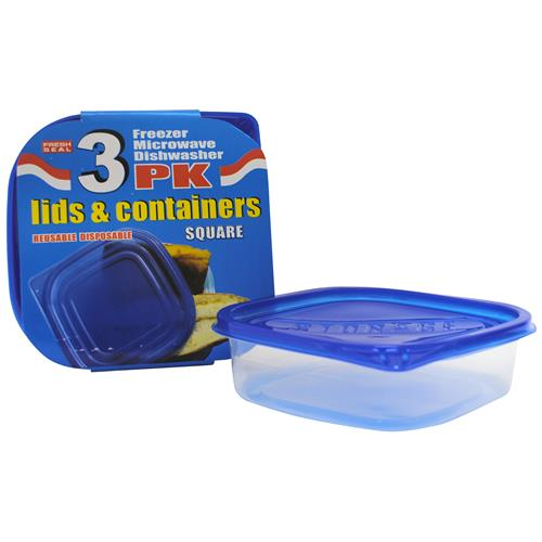 Wholesale Fresh Seal Plastic Storage Containers w/ Lids - 25