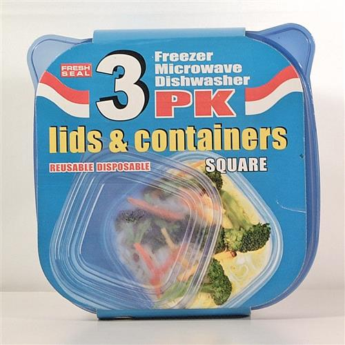 Wholesale Fresh Seal Plastic Storage Containers w/ Lids - 34
